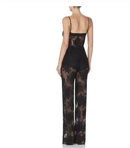 Tracy Lace Jumpsuit - Pynk Kandi
