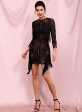 Load image into Gallery viewer, Fashion nova knitted black dress -Pynk Kandi