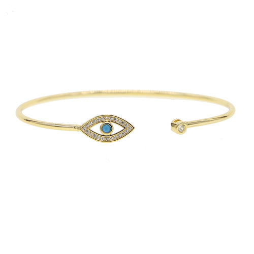 Evil Eye Bangle Bracelet - Pynk Kandi