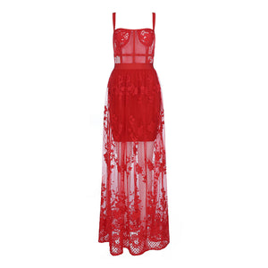 Red Lace Dress - Pynk Kandi