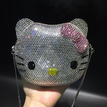 Load image into Gallery viewer, Crystal hello kitty evening bag - Pynk Kandi