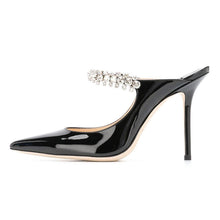 Load image into Gallery viewer, Black jimmy choo bing mule - Pynk Kandi