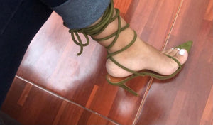 Green pointed heel - Pynk Kandi