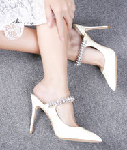 Load image into Gallery viewer, Jimmy choo white bing mule - Pynk Kandi