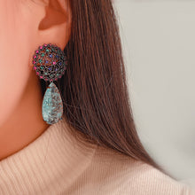 Load image into Gallery viewer, Broken Blue Lagoon Earrings - Pynk Kandi