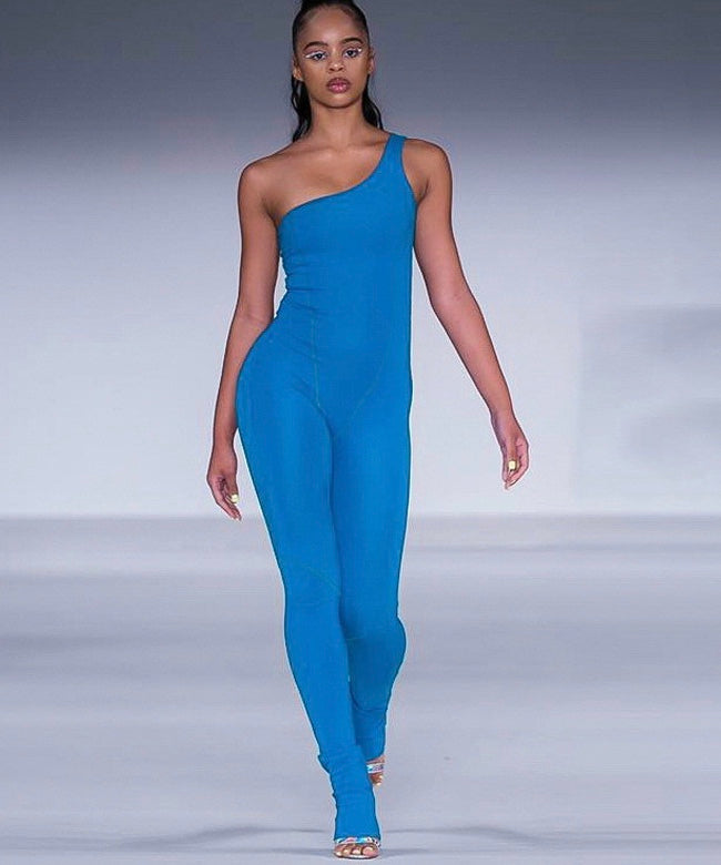 Fashion nova blue Jumpsuit - Pynk Kandi