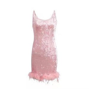 Pink Velvet Fashion nova dress - Pynk Kandi