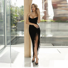 Load image into Gallery viewer, Revolve black lace gown - pynk Kandi
