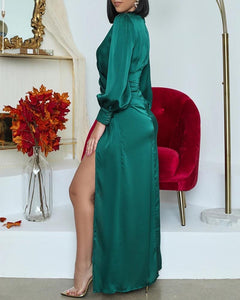 Beyoncé Long sleeve green gown - Pynk Kandi