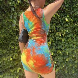 Rasta Mini Dress - Pynk Kandi