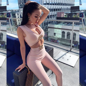 Pink fashion nova Jumpsuit - Pynk Kandi