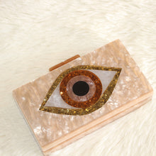Load image into Gallery viewer, Evil Eye acrylic Clutch - Pynk Kandi