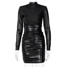 Load image into Gallery viewer, Long sleeve leather dress - Pynk Kandi