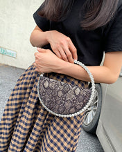 Load image into Gallery viewer, Meta Gala Half Moon Crystal Clutch - Pynk Kandi