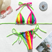 Load image into Gallery viewer, Rainbow Two Piece Swimsuit - Pynk Kandi