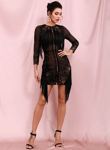 Fashion nova knitted black dress -Pynk Kandi