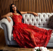 Load image into Gallery viewer, Red Lace Dress - Pynk Kandi