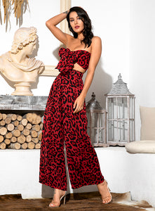 Liza Red Leopard Set
