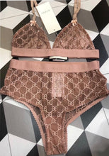 Load image into Gallery viewer, Gucci crystal bra set - Pynk Kandi