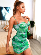 Load image into Gallery viewer, Green Versace dress - Pynk Kandi