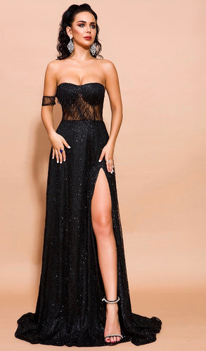 Black sequin gown - Pynk Kandi