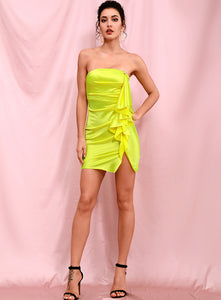 House of Cb neon yellow tube dress - Pynk Kandi