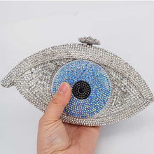 Load image into Gallery viewer, judith lebier Crystal Evil Eye Clutch - Pynk Kandi