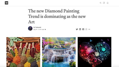 The new Diamond Painting Trend is dominating as the new Art (from Medium.com)