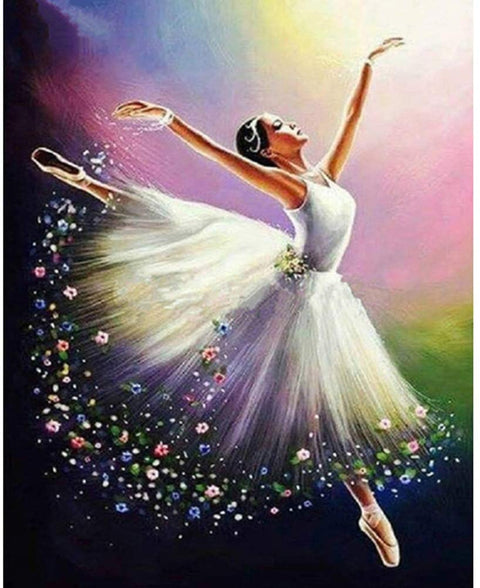 Ballerina Flying - Diamond Painting Corner
