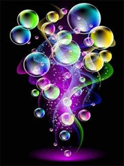 Colored Soap Bubbles with Smoke - Diamond Painting Corner