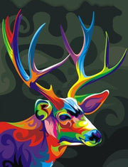 Colorful Deer Portrait - Diamond Painting Corner