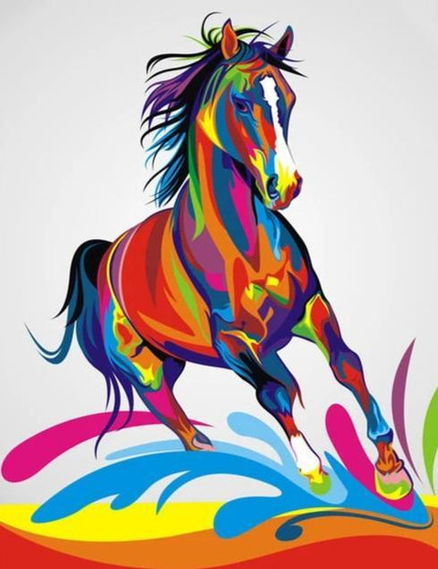 Colorful Horse - Diamond Painting Corner