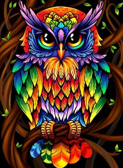 Colorful Owl Diamond Painting Kit - Diamond Painting Corner