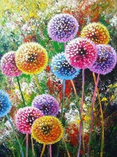Dandelions Field 01 Diamond Painting Kit - Diamond Painting Corner