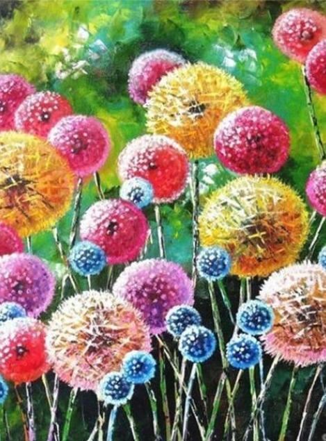 Dandelions Field 03 Diamond Painting Kit - Diamond Painting Corner