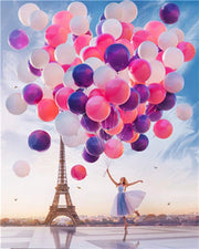 Eiffel Tower with Balloons - Diamond Painting Corner