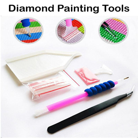 Eight Colorful Hearts Diamond Painting Kit - Diamond Painting Corner