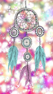 Feather Dreamcatcher 08 Diamond Painting Kit - Diamond Painting Corner