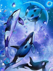 Five Orcas Diamond Painting Kit - Diamond Painting Corner