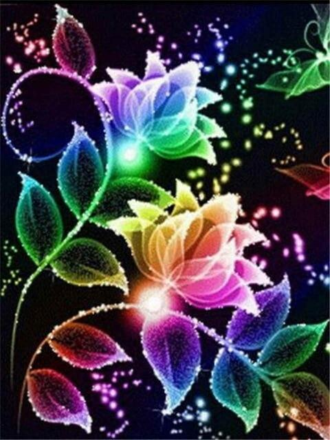 Flowers of Light and Color - Diamond Painting Corner