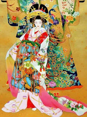 Geisha with Colorful Kimono - Diamond Painting Corner