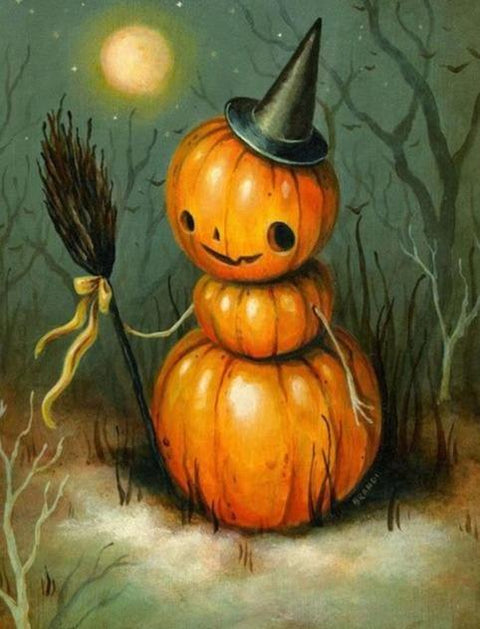 Halloween Pumpkin Man Diamond Painting Kit - Diamond Painting Corner