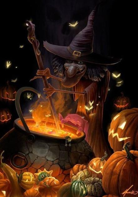 Halloween Witch Brew Diamond Painting Kit - Diamond Painting Corner