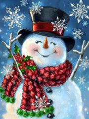 Happy Snowman - Diamond Painting Corner