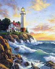 Lighthouse 08 Diamond Painting Kit - Diamond Painting Corner