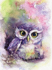 Lilac Owl Diamond Painting Kit - Diamond Painting Corner
