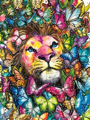 Lion with Butterflies Diamond Painting Kit - Diamond Painting Corner