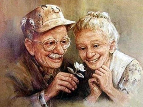 Old Couple in Love - Diamond Painting Corner