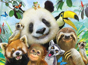 Panda & Friends Laughing Diamond Painting Kit - Diamond Painting Corner