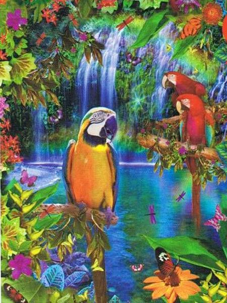 Parrots 15 Diamond Painting Kit - Diamond Painting Corner